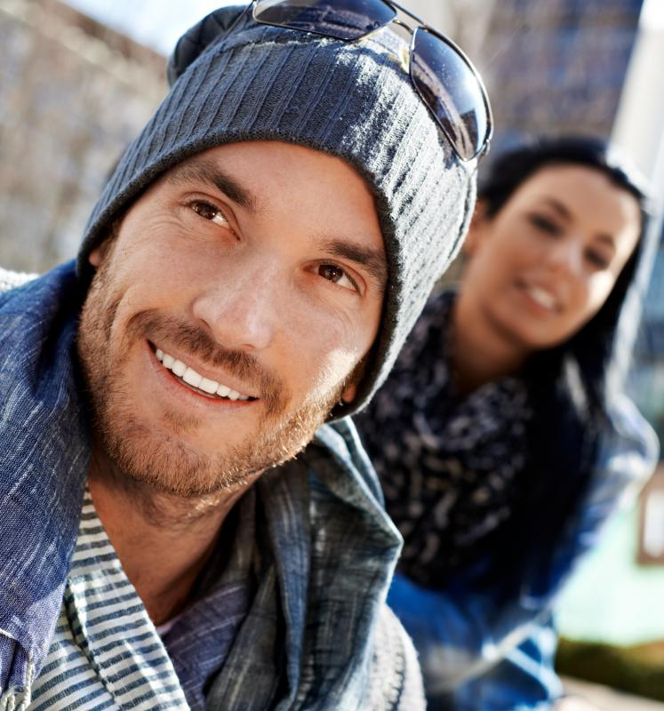 The knitted beanie is also known as a stocking or ski cap, and is made to be stretchy, comfortable, and warm.
