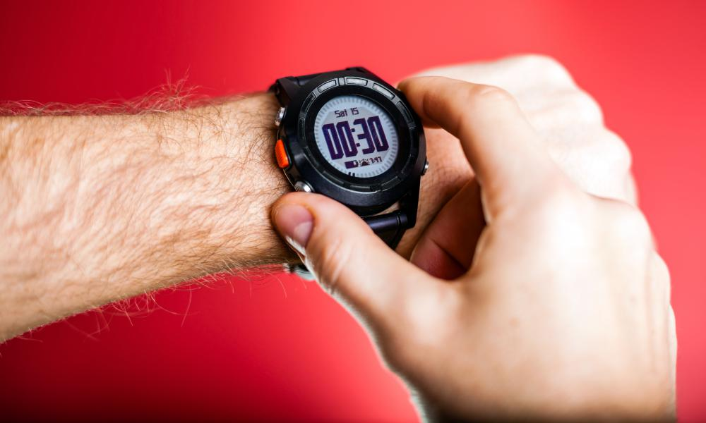 A sport watch may function as a stopwatch.