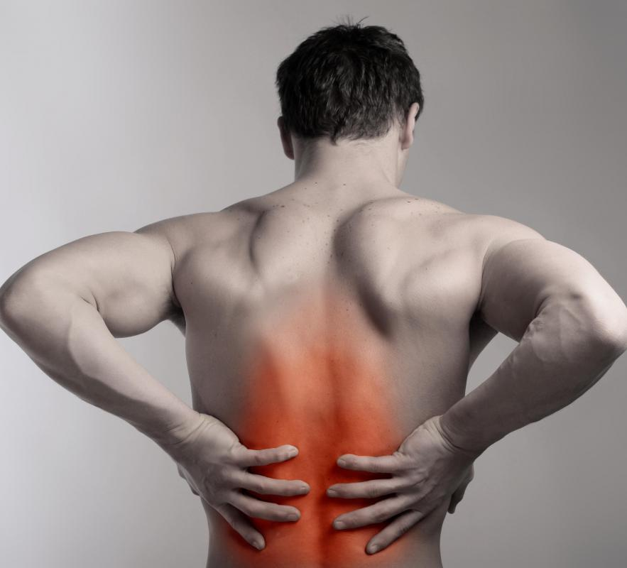 Myeloma often presents with pain in the spine.