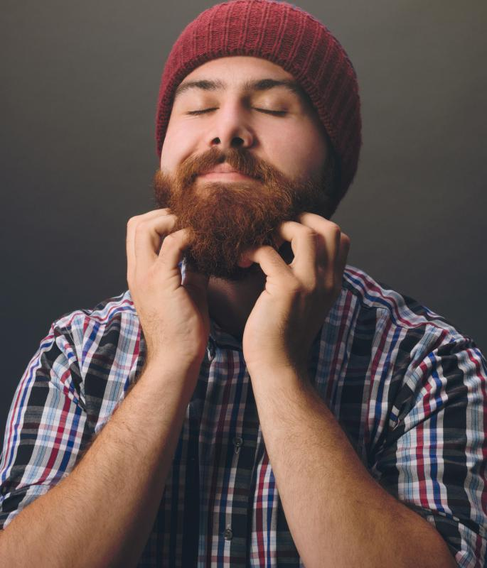 Many full beards extend to some point on the neck.