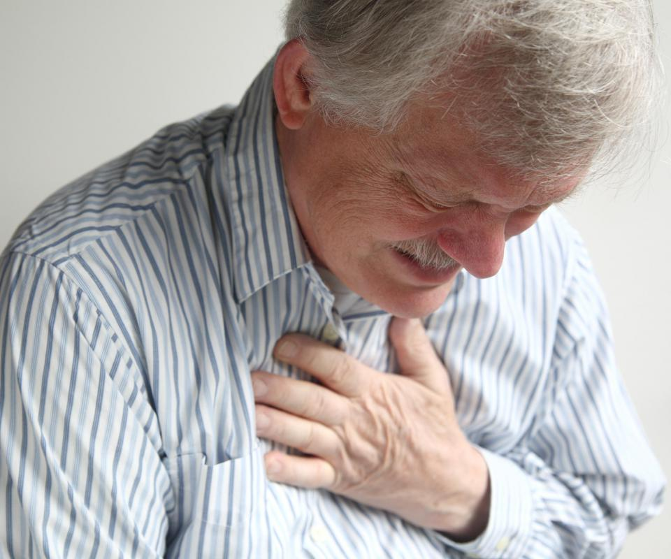 Chest pain and fatigue may be a sign of heart disease.