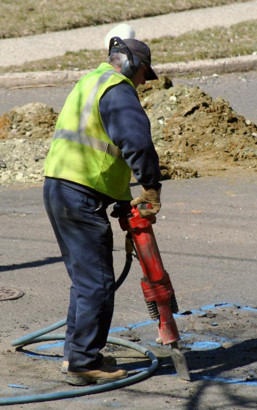 Prolonged workplace exposure to loud noises, such as a jackhammer, can impair hearing.