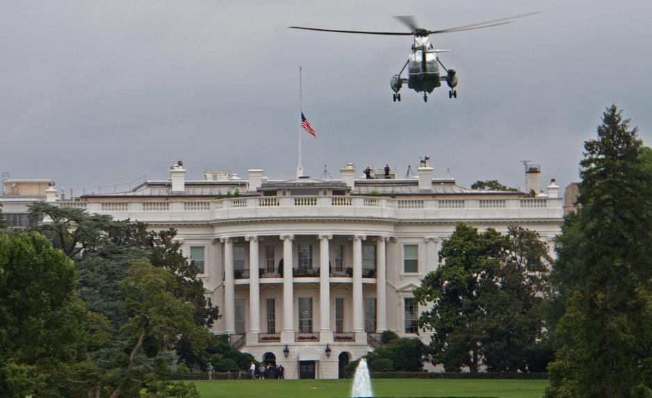 In an emergency, the President can be evacuated from the White House in the helicopter Marine One.