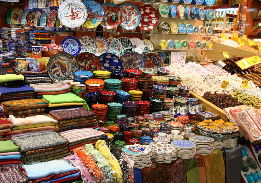 Bargaining a purchase price in bazaars is an important part of Middle Eastern culture.