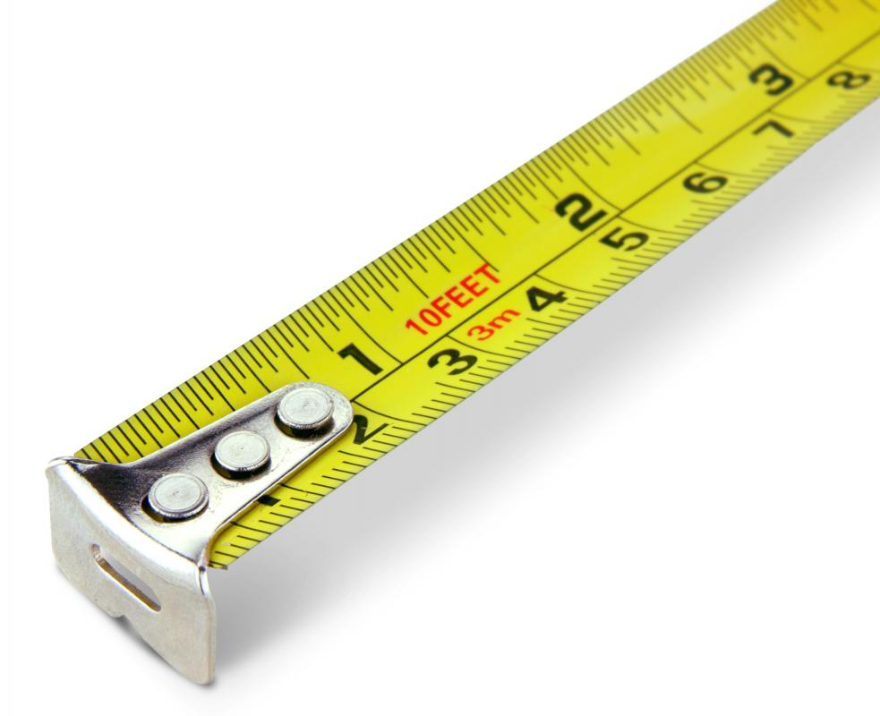 A tape measure.