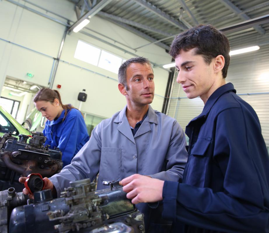 Vocational schools focus on careers rather than on traditional academics.