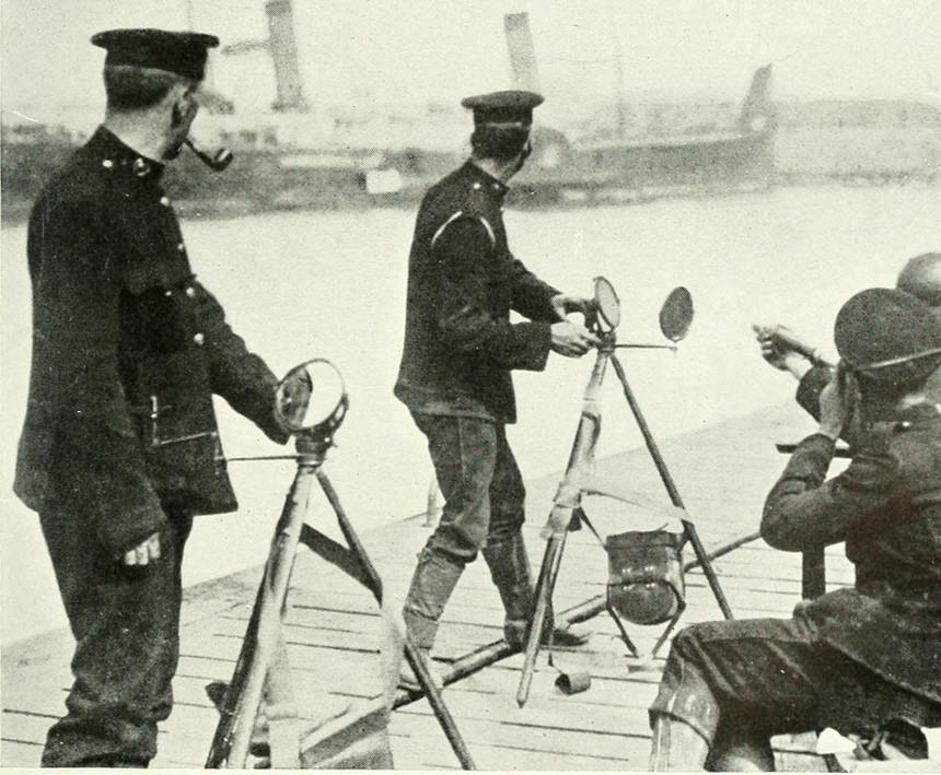 A heliograph is an optical telegraph that uses a mirror to reflect light to mimic a signal lamp.