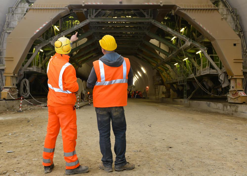 Civil engineering construction specializes in the building of tunnels, roads and bridges.