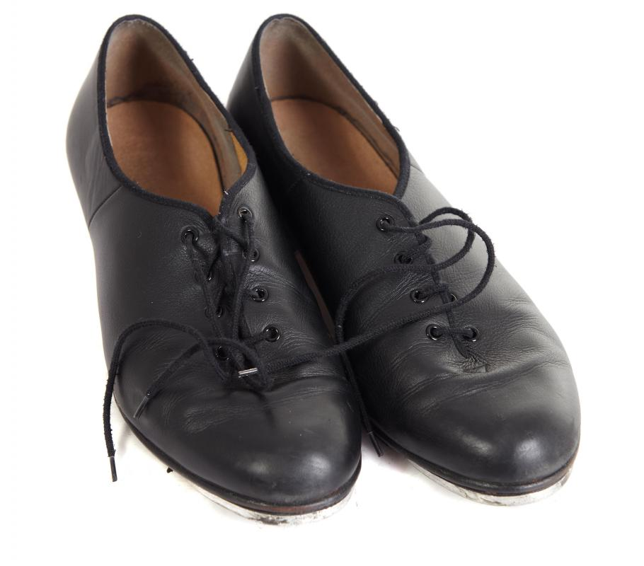 A pair of men's tap shoes.