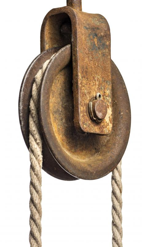 The pulley is one of the six simple machines.