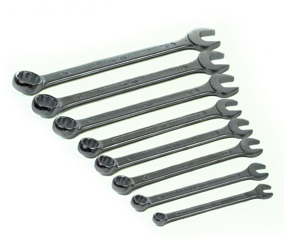 Hex screws can be turned with wrenches.