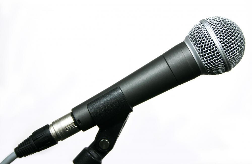 Any microphones for a PA system should be positioned to prevent feedback.