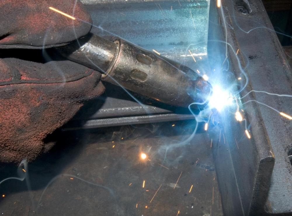 A closeup of welding.