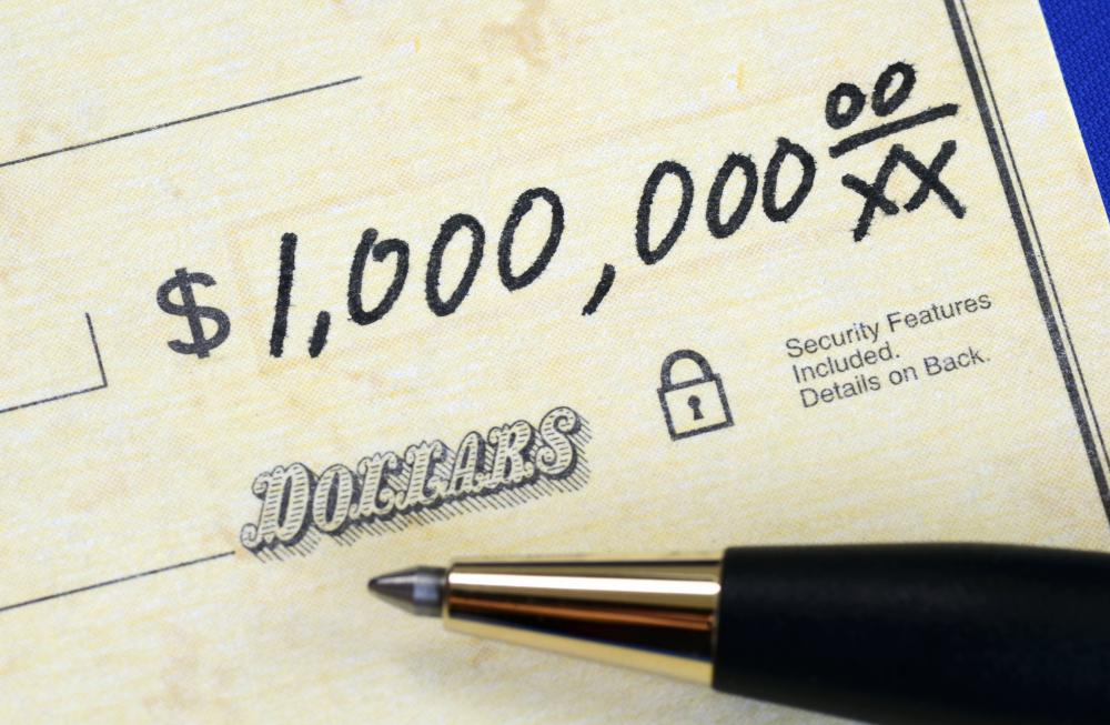 Altering a check to make it appear as though it was written for a large sum of money is considered check forgery.