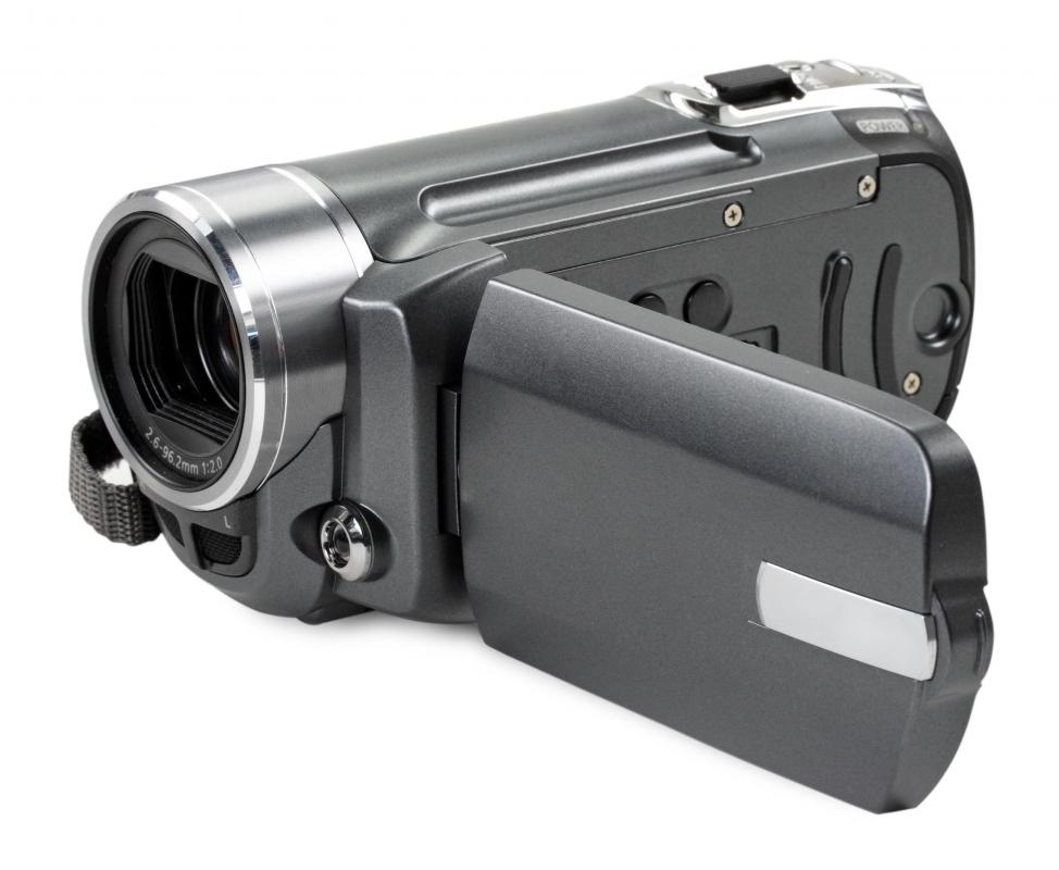A digital video camera.