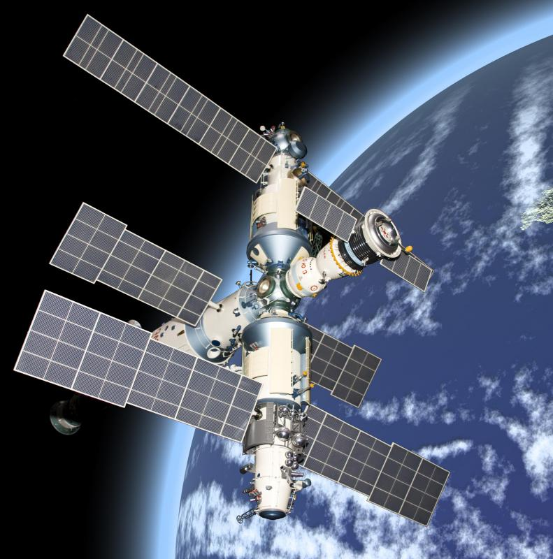 Space stations and satellites can provide meteorologists with information on weather patterns.
