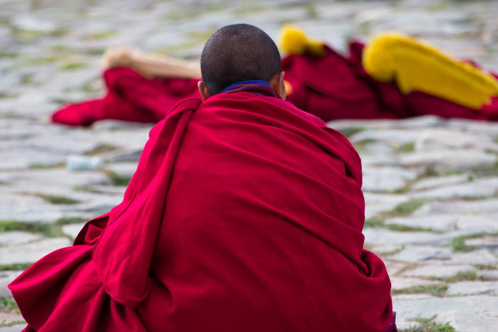 Mahayana Buddhism is led by monks.