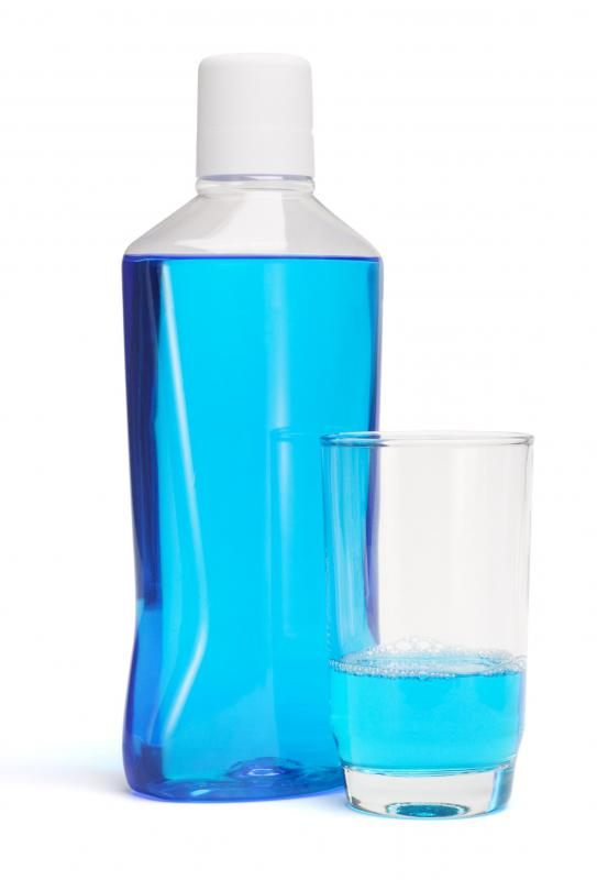 Mouthwash usually contains alcohol.