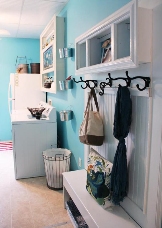 Mud room with laundry.