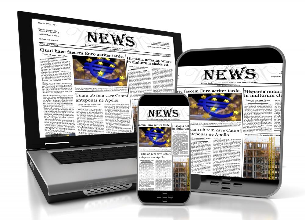 Online newspaper advertising costs are often set according to how many visits the website has per day.