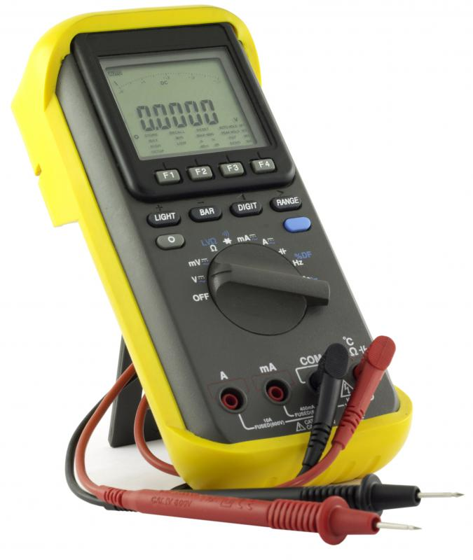 A multimeter from a workshop.