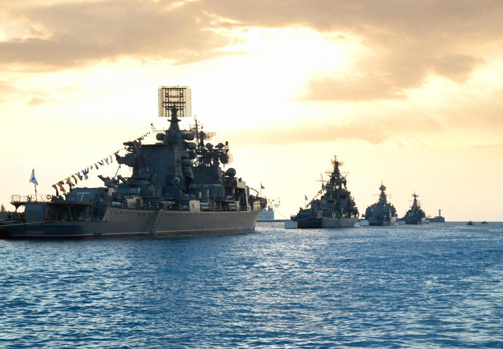 To deter piracy, the international community occasionally deploys naval task forces off the coast of Somalia.