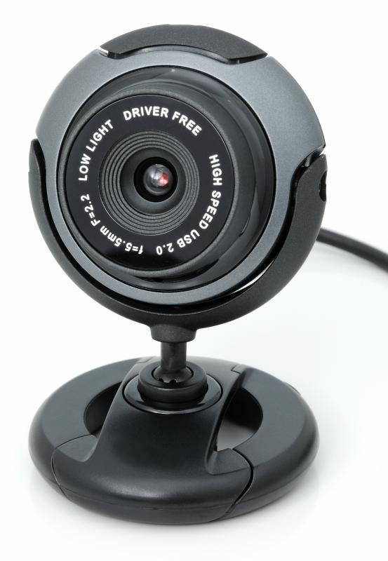 A webcam for use with VoIP.