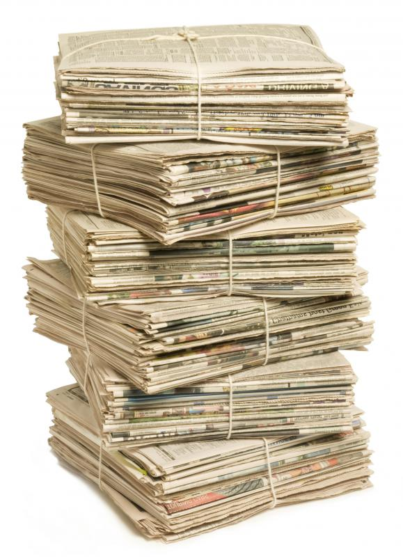 Newspapers can be recycled into a variety of products.