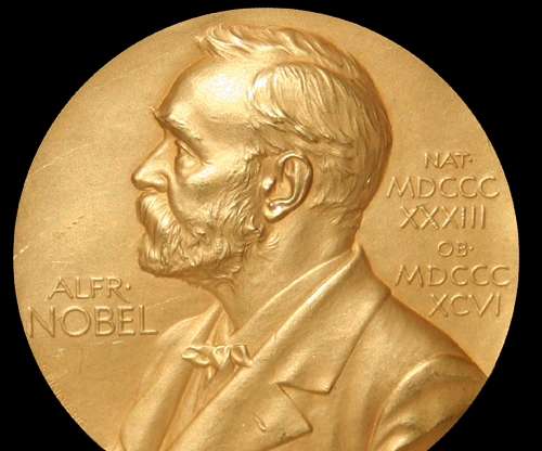 One of the medals awarded to Nobel Prize winners.