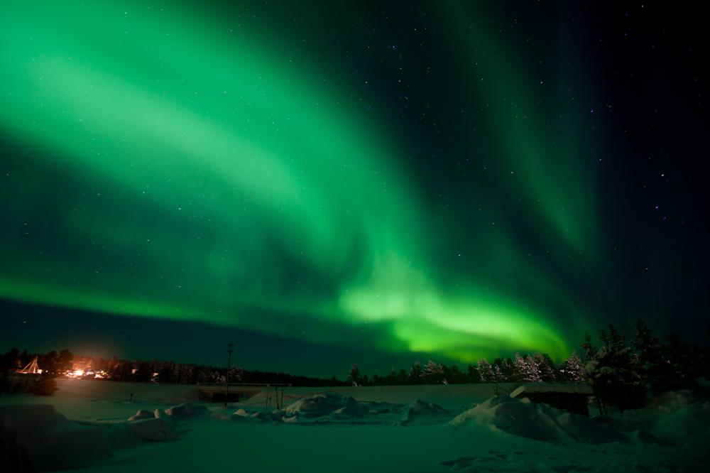 Northern Lights, or Aurora Borealis.