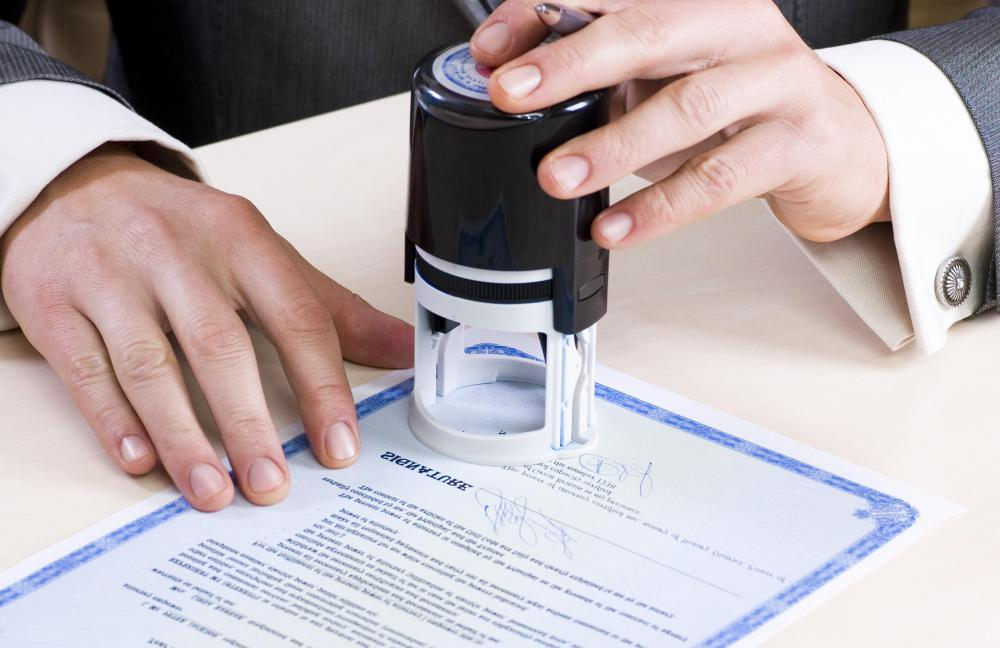 Officials such as notaries public use hand-held embossing stamps.