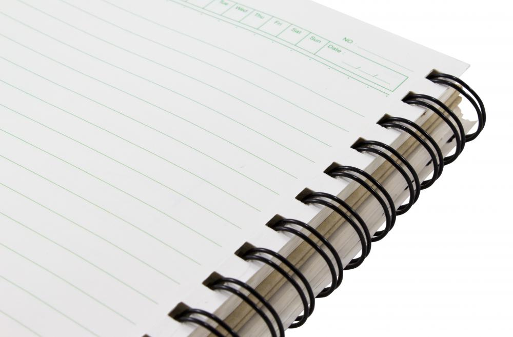 Spiral notebooks are common school supplies for many grade levels.