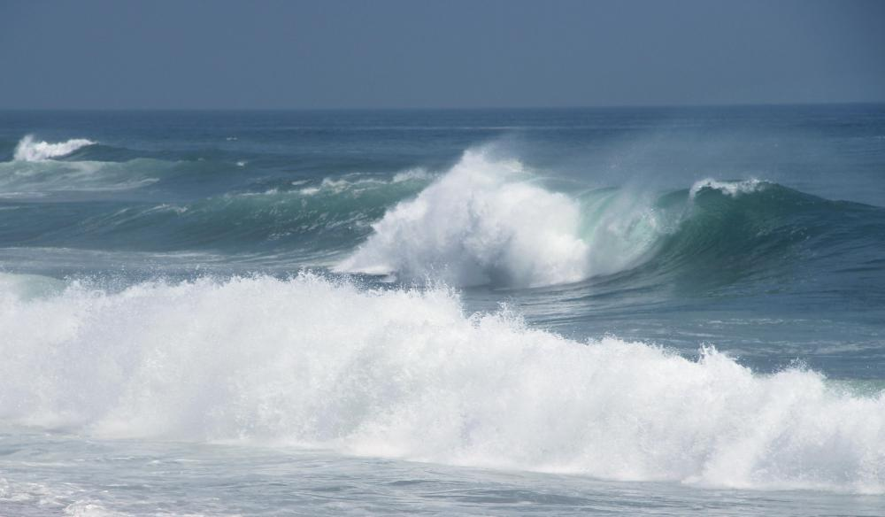 "Electricity generated on the ocean is known as ""wave power."""