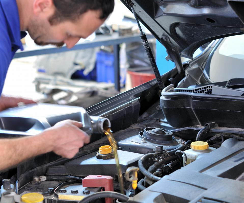 An auto mechanic can perform regular car maintenance.