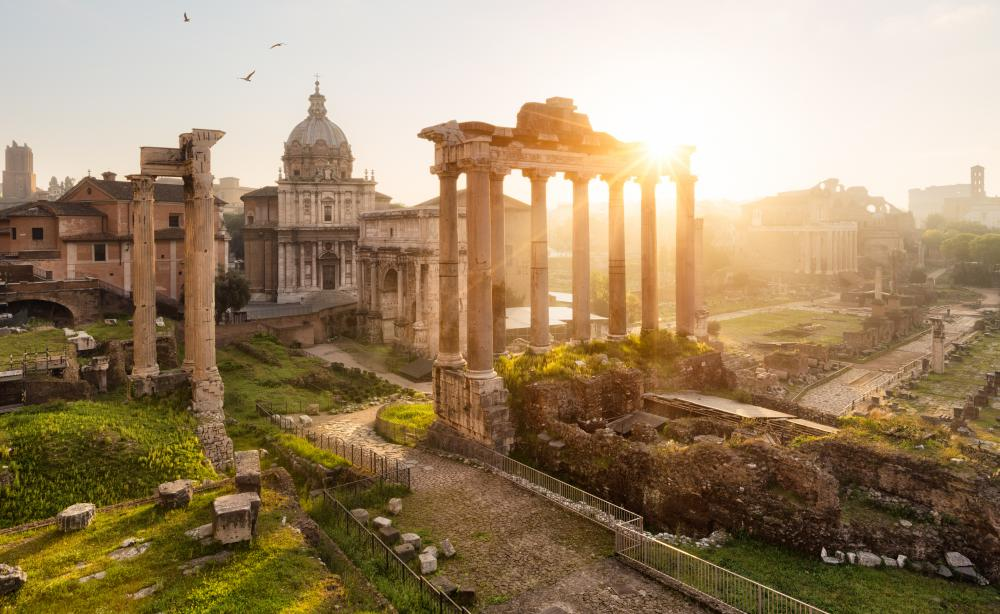 Roman architecture drew heavily upon the styles of both the Greek and the Hellenistic eras.