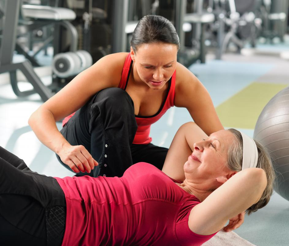Having a personal trainer can keep someone motivated to meet exercise goals.