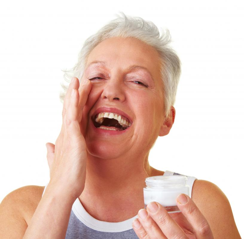 Panthenol cream may be used as overnight protection against wrinkles.