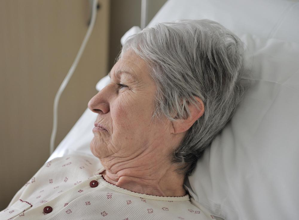 Long-term hospital patients may be susceptible to bedsores.
