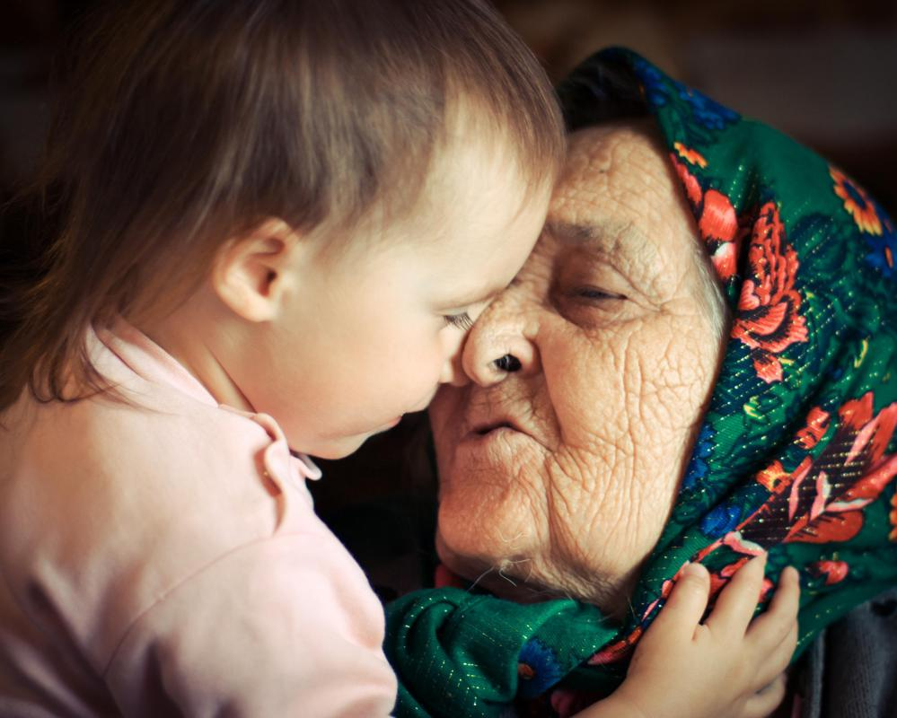 Asking an elderly person for advice on child-rearing is one way to make them feel needed.