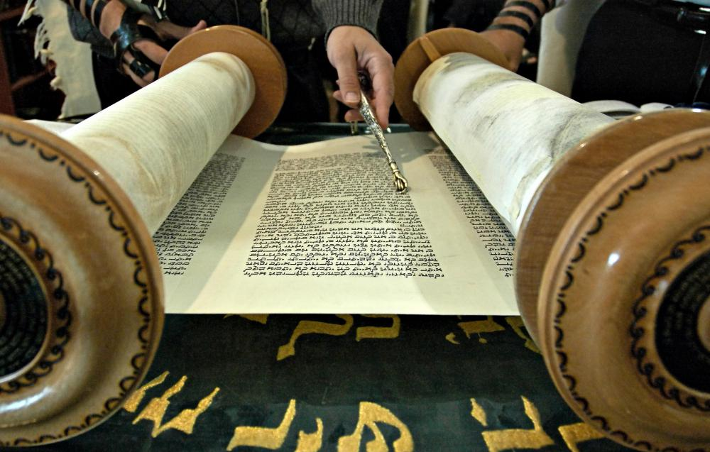 Torah scrolls are often featured in Jewish holidays.