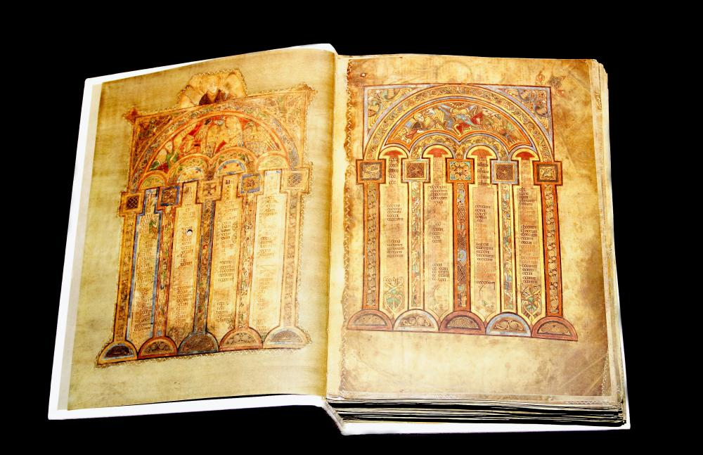 The book of Kells is an example of a Medieval Irish illuminated manuscript.