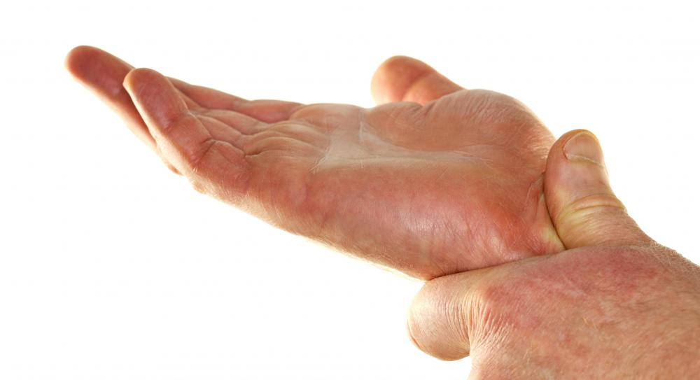 People with hand spasms might experience twitching or tingling.