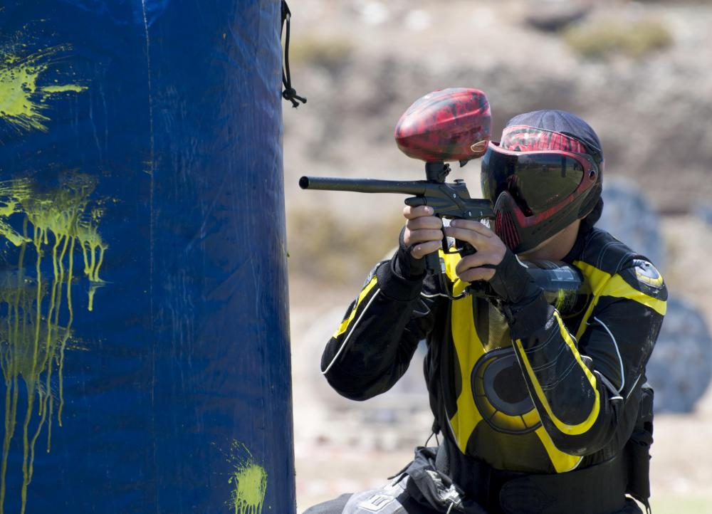Paintball can be a good team building game.
