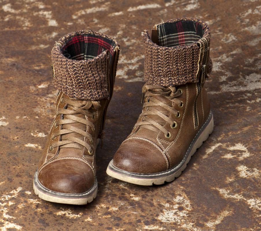 Boots are often stored in a mud room.