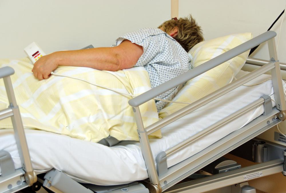 Patients usually have a control that allows them to raise and lower the bed and call for a nurse.