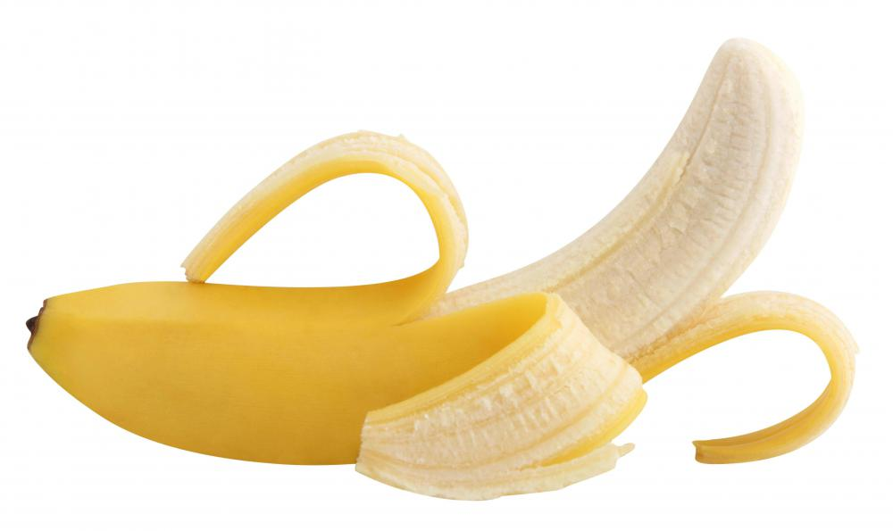 Bananas contain a lot of soluble fiber.