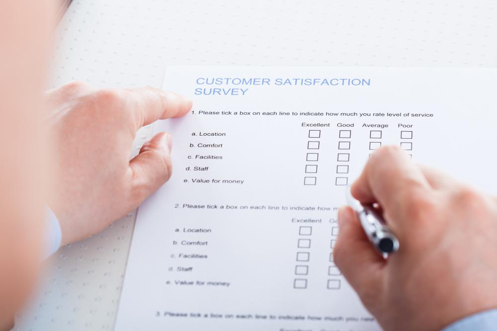 Businesses collect feedback through surveys, which are used to identify how customers feel about a product or service.