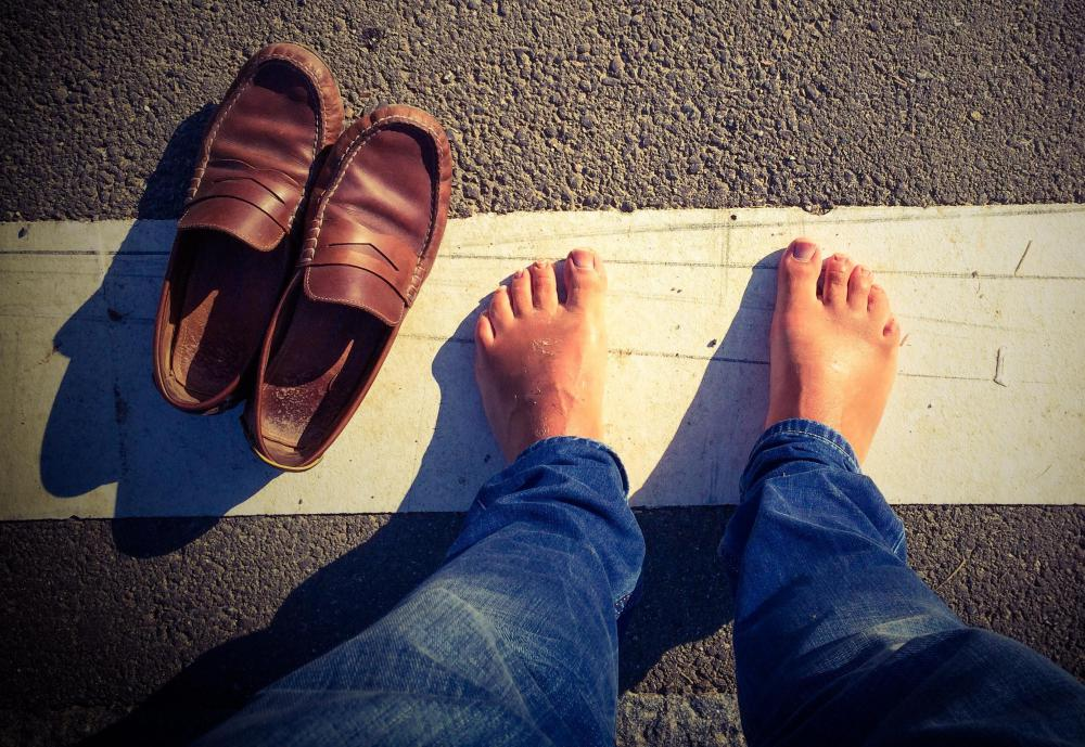 Walking barefoot in public places may cause toenail fungus.
