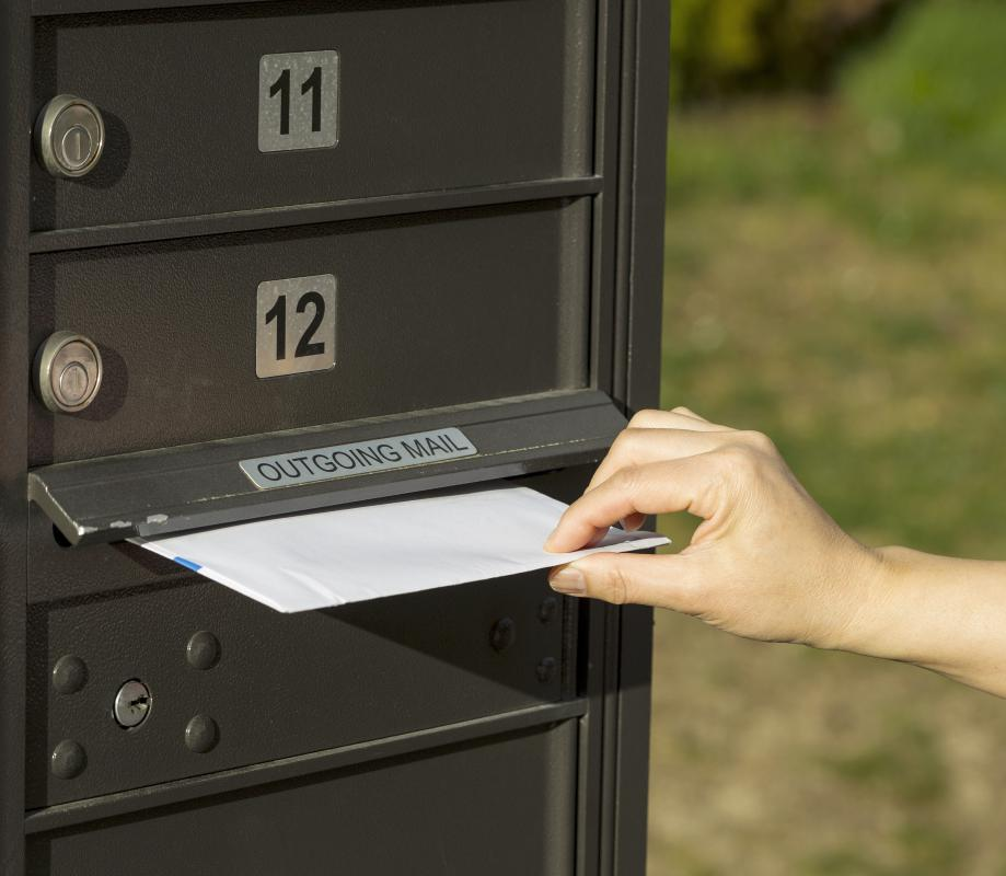 Registered mail prevents against theft, loss or damage during transit.