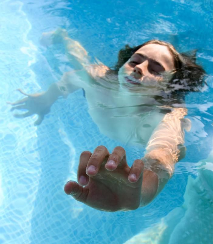 Inhaling water can leave fluid in the lungs and may cause secondary drowning.